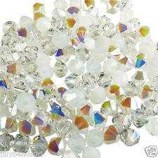 Swarovski 5328 Xilion Bicone Mixes 4mm White Wedding 100 beads