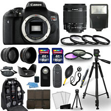 Canon EOS Rebel T6i SLR Camera + 18-55mm STM Lens + 30 Piece Accessory Bundle