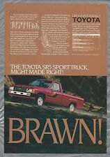1984 TOYOTA SR-5 advertisement, Toyota SR 5 Pickup truck ad