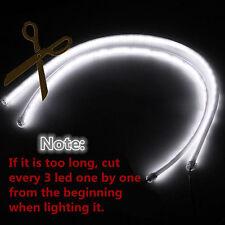 2x 60cm LED Car DRL Daytime Running Lamp Flexible Strip Light White BMW