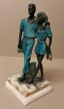 Large COUPLE  Resin - White Marble Figurine Ornament  Decor--H: 25 cm