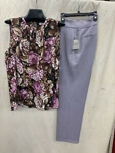 Nine West TOP/KASPER PANTS/SIZE 12/NEW WITH TAG/RETAIL$119