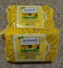 2 pack Dickinson's Original Witch Hazel Cleansing Cloths 25ct Two pack