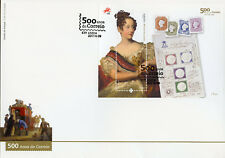 Portugal 2017 FDC Correio Postal Services 500 Yrs 1v M/S Cover Stamps on Stamps