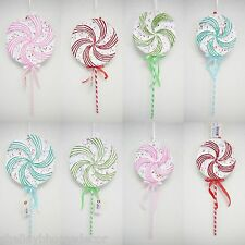 Lollipop Candy Decorations Set/8 large swirl Candy Props for Christmas or Party