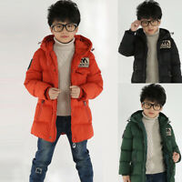 Children Winter Hooded Down Jacket Coat For Boys Kids Snowsuit Outwear Parkas