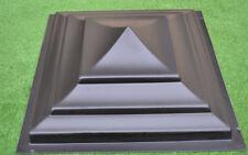 """Sol 3 PLASTIK MOLDS FENCE PIER CAP NOULDS POST CONCRETE CEMENT 15.74x15.74"""" #P04"""