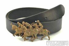 RALPH LAUREN Vintage VTG Black Leather POLO PLAYER Buckle Belt RARE - MEDIUM