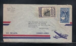 COSTA RICA Commercial Cover San Jose to Berkeley 24-6-1956 Cancel