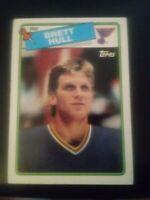 1988 Topps Brett Hull St. Louis Blues Rookie #66 Hockey Card VG HoF RC