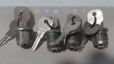4 NOS HURD Cam Barrel Cylinder Lock Key Jukebox Pinball Vending Arcade Machine