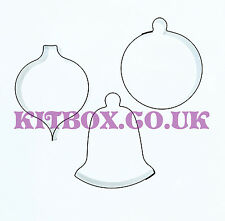 Kit Box Christmas Bauble Cutters 3 Set for Cake Decorating and Cupcakes