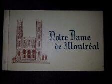 Vintage Notre Dame de Montreal Souvenir Postcard Pack 1930's