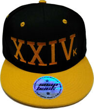 New XXIV Hat 24k Magic Quality Snap Back Cap Flat Visor With Golden Writing