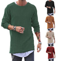 Men's Sweater Knitted Sweatshirt Long Sleeve Crew Neck Pullover Tops Jumper CA