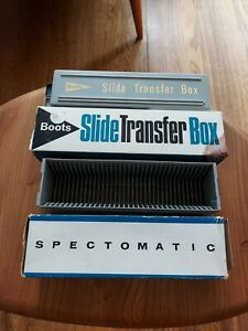 Vintage BOOTS slide transfer box SPECTOMATIC slide magazine, boxed, see photos