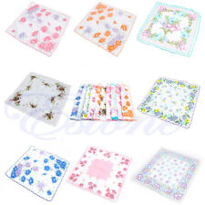 lot 10 ladies cotton hankies vintage style floral hanky handkerchiefs various