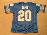 UNSIGNED CUSTOM Sewn Stitched Billy Sims Jersey - M, L, XL, 2XL