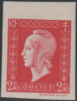 "FRANCE STAMP TIMBRE N° 693 a "" MARIANNE DE DULAC 2F40 ROUGE ND"" NEUF xx TTB J852"