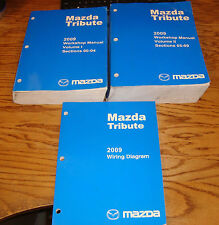 Original 2009 Mazda Tribute Shop Service Manual Vol 1 2 + Wiring Diagram Set