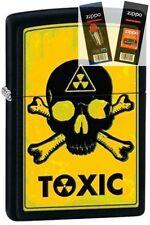 Zippo 28310 toxic skull & crossbones Lighter with *FLINT & WICK GIFT SET*