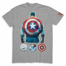 New Disney Captain America Marvel 75th Anniversary Ltd Release T Shirt Adult L