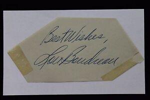 Lou Boudreau (d.2001) HOF Indians Cut Autograph Signed 3x5 Index Card 17F