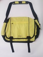 L.L.Bean Messenger Bag 3M ScotchLite Material in Citron Bright Yellow NEW NWT