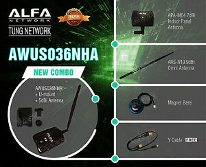 ALFA AWUS036NHA COMBO 802.11n Wireless-N Wi-Fi Adapter  Low Buffer