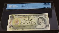 1973 $1 Dollar Bank of Canada replacement note *OL Lawson Bouey BC-46Aa UNC-64