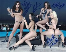 Tori Black Kristina Rose Eva Angelina Alexis Texas Autograph Signed Photo 8x10