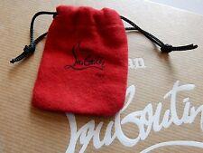 "New Christian Louboutin Mini Red Drawstring dust bag 2.5"" x 2.5"""