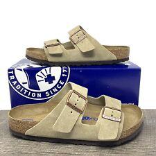 Birkenstock Arizona Taupe Suede Sandals - Size 41 (US W10 / M8 ) New