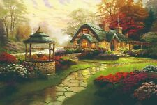 Not Framed Canvas Print Home Decor Wall Make A Wish Cottage Round Puzzle