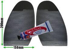 Ribbed Grip Stick on Soles with Glue Mens XL Non Slip Grip Black DIY Shoe Repair