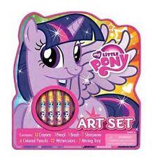 My Little Pony Art Set BRAND NEW SEALED !!! ART Set Crayons Pencils Paint Brush