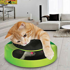Catch The Mouse Cat Kitten Toy Scratching Claw Care Mat Motion Plush Moving UK