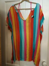 BRIGHT & PRETTY PAPAYA DRESS/COVER-UP,SIZE M,RRP £12.50, GREAT POSTAGE DEALS!!!