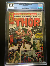 CGC 5.5 JOURNEY INTO MYSTERY ANNUAL #1 1ST APPEARANCE HERCULES & ZEUS 1965 OW/W