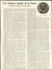 08 LES ARDENNES BOUCLIER DE LA FRANCE ARTICLE PRESSE PAR HENRI D' ACREMONT 1937