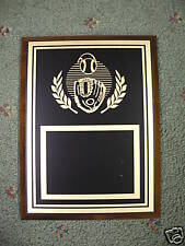 6 x 8 wood & black baseball plaque trophy