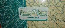 WOW!  VINTAGE TOY HANDY ANDY TOOL SET METAL BOX BOYS & GIRLS