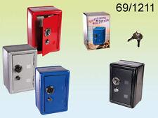 Red Combination & Key Safe Stash Money Box saving pennies & change 69/1211