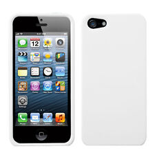 For Apple iPhone 5 5S SE HARD Protector Case Snap On Phone Cover Ivory White