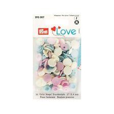 Prym Love Colorsnap bunt / rosa blau creme