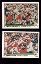 1983 Fleer Action Kansas City Chiefs Set JOE DELANEY