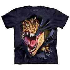 THE MOUNTAIN T-Rex Tearing Kids/Boys/Child/Girls T-shirt/Top dinosaur/Jurassic