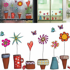 Cute Cartoon Flower Butterfly Wall Stickers Decal Window Glass Home Decor New