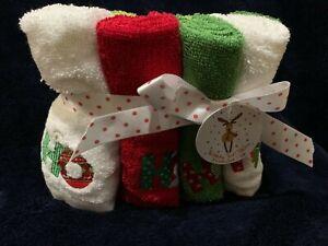 NWT Christmas Wash Towel Collection HO HO HO 8 piece wash pack