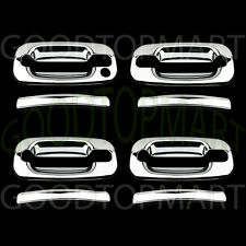 FOR CHEVY SILVERADO 00-06 CHROME 4 DOORS HANDLES COVERS W/OUT PASSENGER KEYHOLE